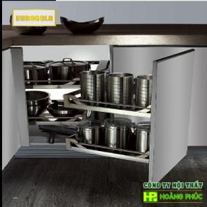 Kệ góc liên hoàn tủ bếp inox hộp cao cấp EUROGOLD