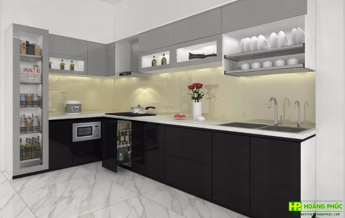 Tủ bếp Acrylic BAP25P26-01